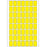 Office Pack Multi-purpose Labels 12 x 18mm Yellow (2341)