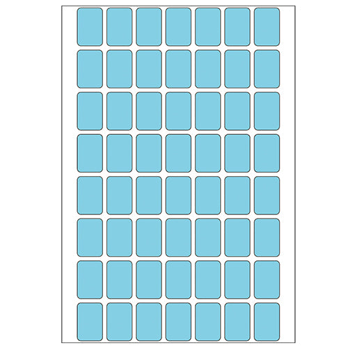 Office Pack Multi-purpose Labels 12 x 8mm Blue (2343)