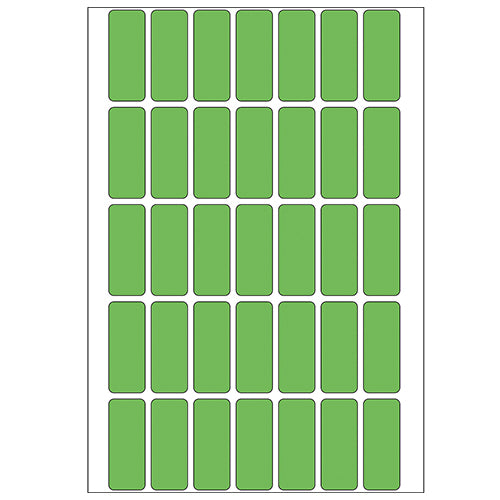 Office Pack Multi-purpose Labels 12 x 30mm Green (2355)