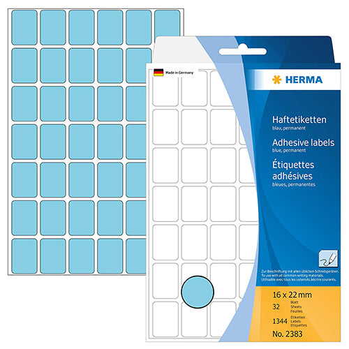 Office Pack Multi-purpose Labels 16 x 22mm Blue (2383)