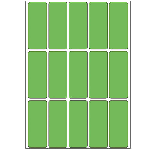 Office Pack Multi-purpose Labels 20 x 50mm Green (2415)