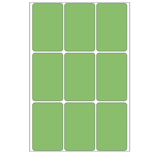 Office Pack Multi-purpose Labels 34 x 53mm Green (2475)