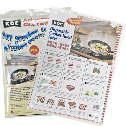 KDC Charcoal Filter Sheet + KDC Grease Filter Paper Set Carton (10 pieces)