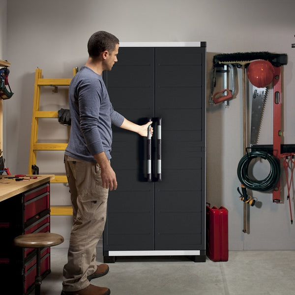 Keter XL Pro Utility Heavy Duty Indoor Storage Cabinet Grey – The ...