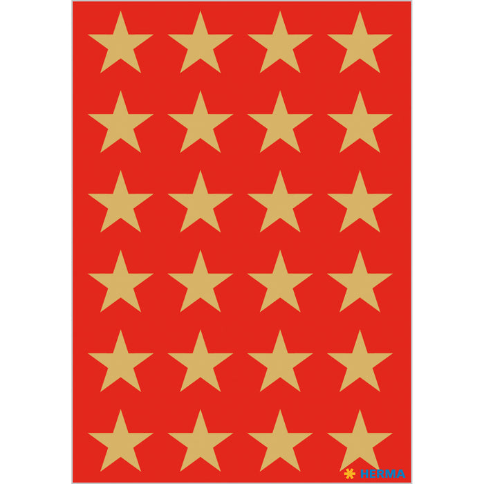 Stickers stars 5-pointed, Gold, Ø 15 mm (3413)