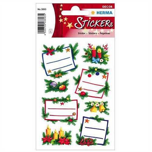 Stickers Christmas Decoration, Glittery (3893)