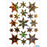 Stickers stars 6-pointed, Gold, holographic film (3902)