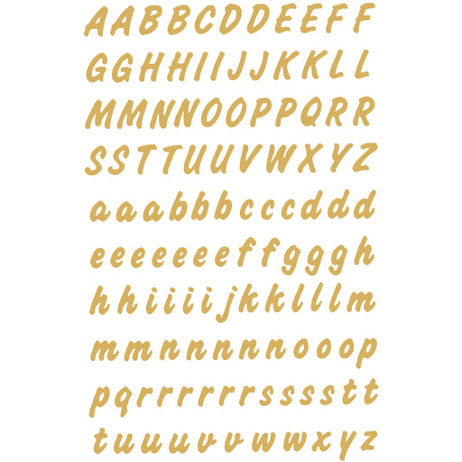 Letters 8 mm A-Z weatherproof film Transparent Gold (4152)