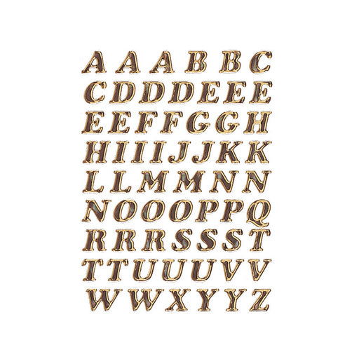 Letters 8 mm A-Z prismatic film Gold glittery (4192)