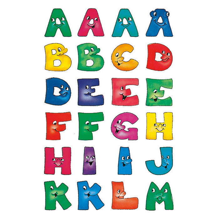 Letters 20 mm A-Z paper funny faces (4194)