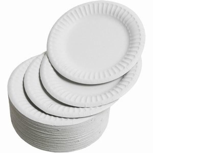 "7"" White Paper Plate Carton (1, 000 pieces)"