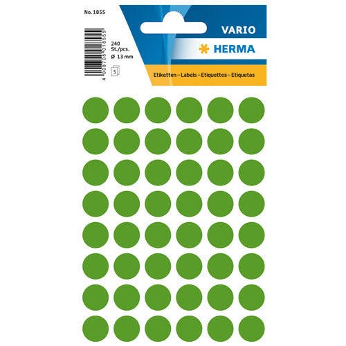 Multi-purpose Labels Round 13mm Dark Green (1855)
