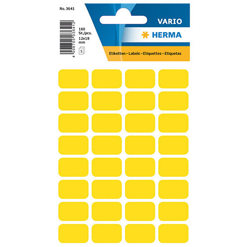 Multi-purpose Labels 18 x 12mm Yellow (3641)