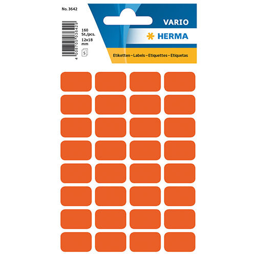 Multi-purpose Labels 18 x 12mm Red (3642)