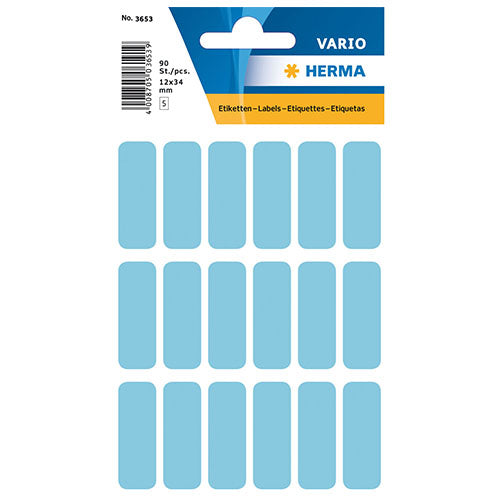 Multi-purpose Labels 12 x 34mm Blue (3653)