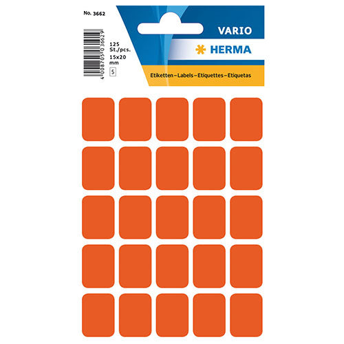 Multi-purpose Labels 15 x 20mm Red (3662)