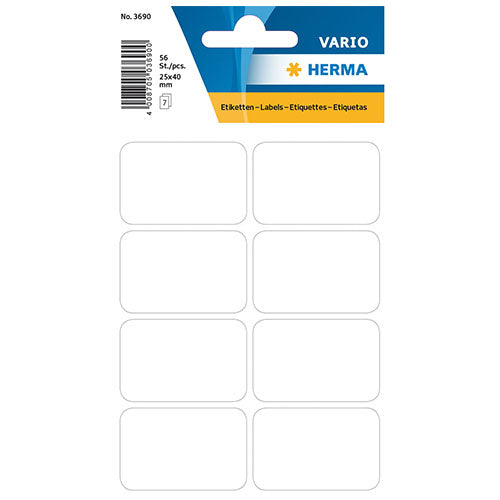 Multi-purpose Labels 25 x 40mm White (3690)