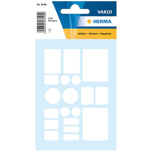 Multi-purpose Labels 7 Assorted Formats White (3730)