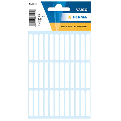 Multi-purpose Labels 5 x 35mm White (3735)