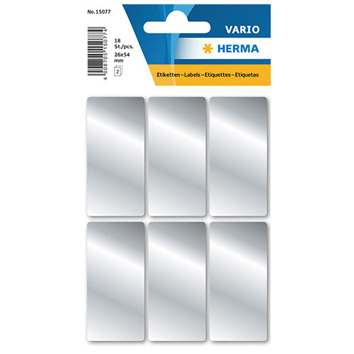 Multi-purpose Labels, 26 x 54mm , Silver (15077)