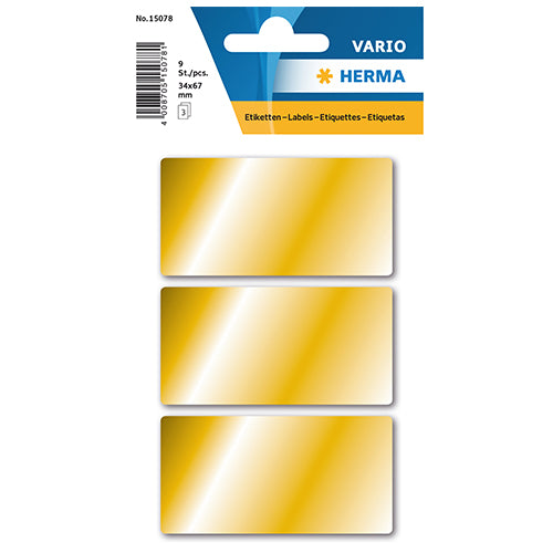 Multi-purpose Labels, 34 x 67mm , Gold (15078)