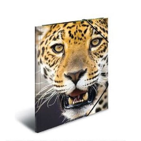 A4 Elasticated Folder Leopard