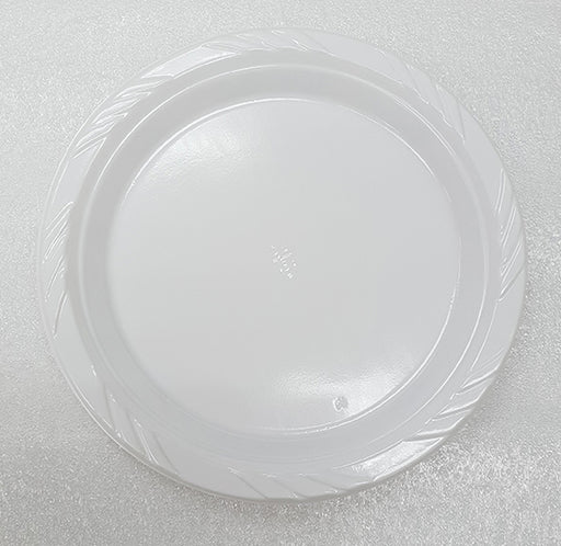 "9"" Plastic White Plates Carton (1, 000 pieces)"
