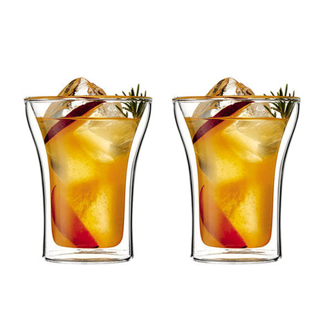 ASSAM Double Wall Glass 0.25L/8oz (Set of 2)
