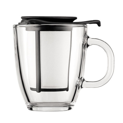 YO-YO Mug and Plastic Tea Strainer 0.35L/12oz