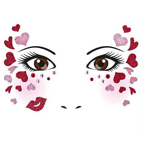 Face Art Sticker Love (15309)