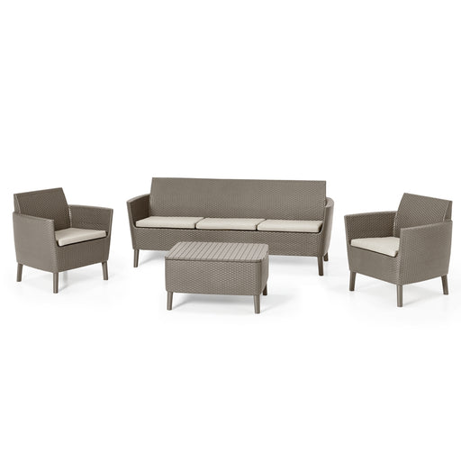 Salemo Triple Sofa Set Cappuccino