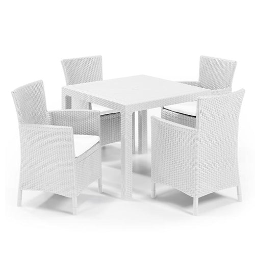 Iowa Chair (White) + Quartet Table White (Assembly For Chairs Only)