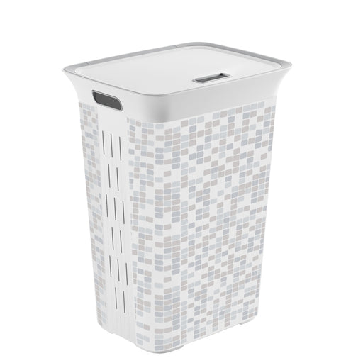 Chic Laundry Hamper Mosaic 60L with Lid