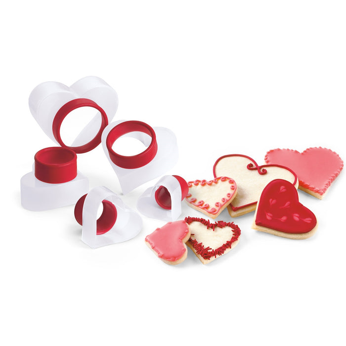 "Red Cookie Cutter 5Pc ""HEART"""