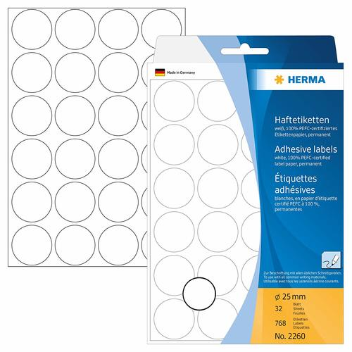 Office Pack Multi-purpose Label Round 25mm (2260)