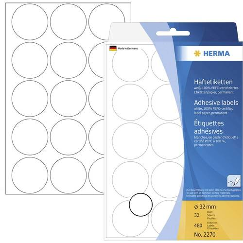 Office Pack Multi-purpose Label Round 32mm (2270)