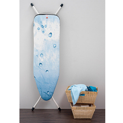 Ironing Board Cover 95x30cm  w/Foam -Size S -Ice water