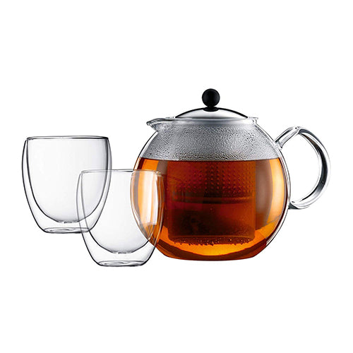 Bodum Assam Tea Press With Stainless Steel Filter And Lid 0.5L/17 Oz.