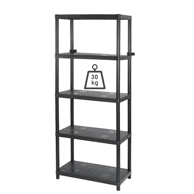 "Sigma 15"" 5 Tier Open Shelf Black"