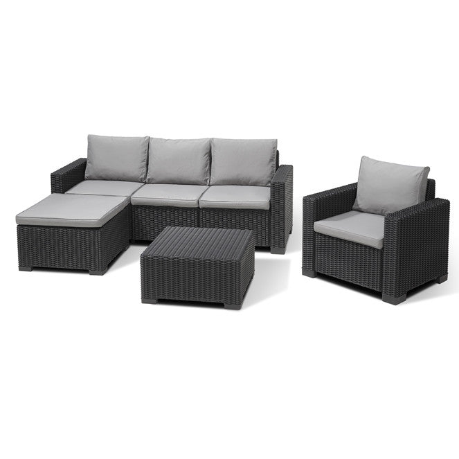 Hervorragend Allibert Moorea 5 Seat Outdoor Garden Lounge Sofa Set Free Delivery U2014 The  Home Shoppe