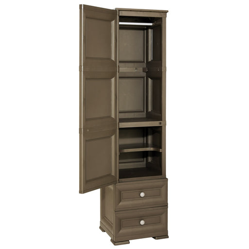 Slim Wardrobe with 3 Shelves + 2 Drawers