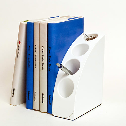 Book And Pen Stand Brown