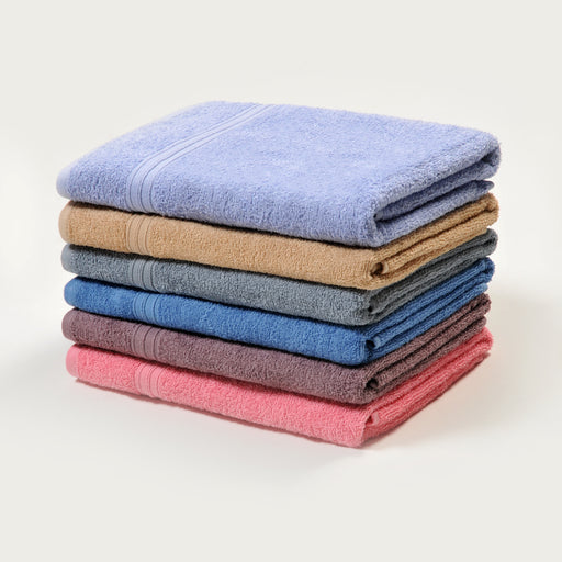 Urban Oasis 100% Cotton Peak Bath Towel (6pcs) - Assorted