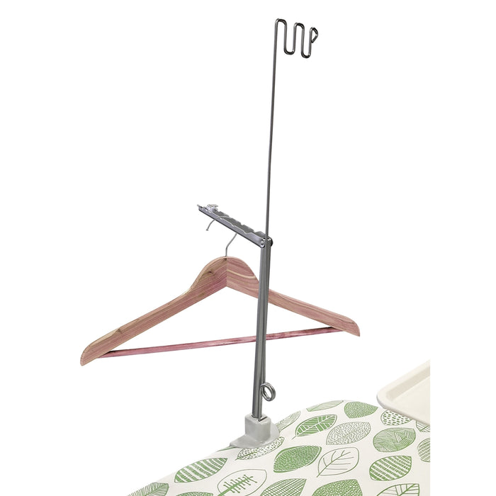 Peschici Ironing board with clothes hanger and wheels 130x45