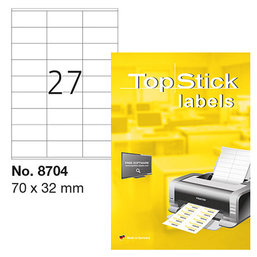 Top Stick Labels 70 x 32mm (8704)