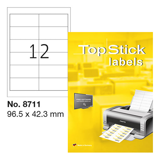Top Stick Labels 96.5 x 42.3mm (8711)
