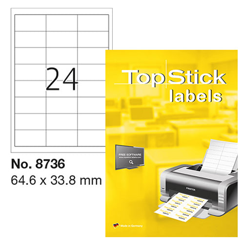Top Stick Labels 64.6 x 33.8mm (8736)