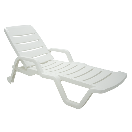 Leblon Sun Lounger Chair White (LAST PIECE)