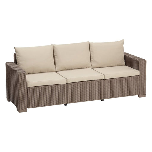 California 3 Seater Sofa Cappuccino