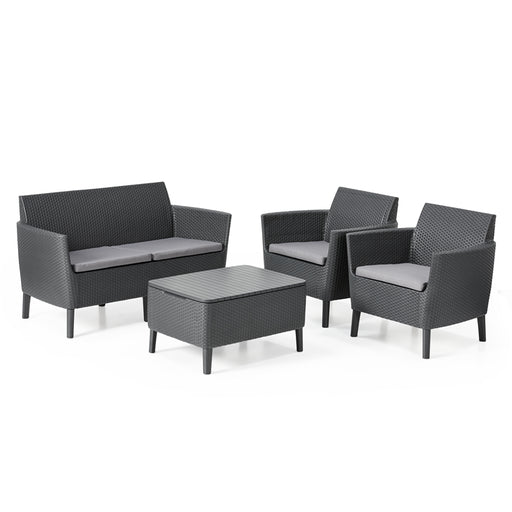 Salemo Sofa Set Graphite